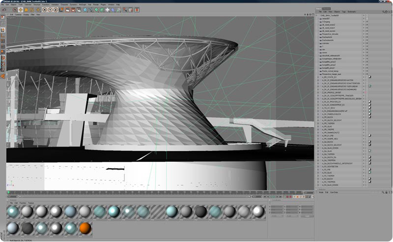 Features for Cinema 4d architecture